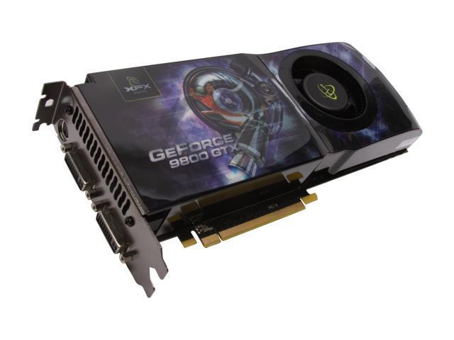 XFX GeForce 9800 GTX+ DirectX 10 PVT98WYDFH 512MB 256-Bit GDDR3 PCI Express 2.0 x16 HDCP Ready SLI Support Video Card