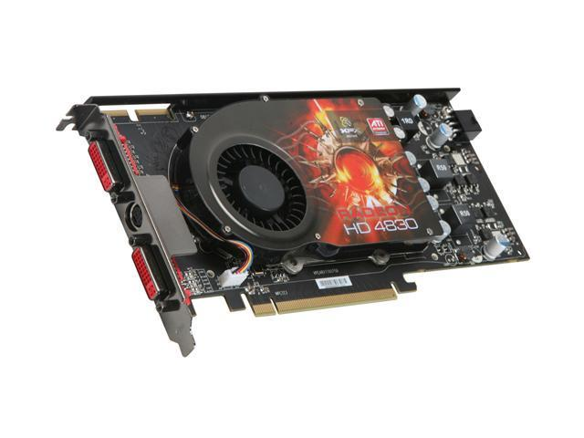XFX Radeon HD 4830 DirectX 10.1 HD-483X-YDFC 512MB 256-Bit GDDR3 PCI Express 2.0 x16 HDCP Ready CrossFireX Support Video Card