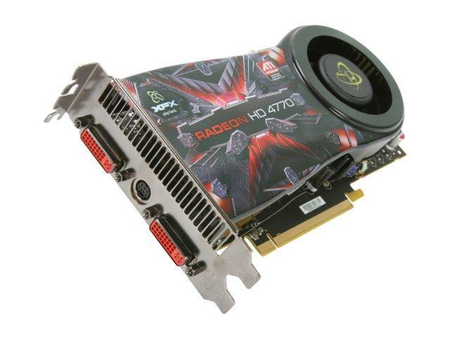 XFX Radeon HD 4770 DirectX 10.1 HD-477A-YDFC 512MB 128-Bit GDDR5 PCI Express 2.0 x16 HDCP Ready CrossFireX Support Video Card