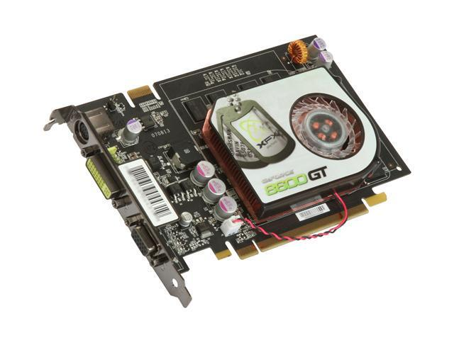 XFX GeForce 8600 GT DirectX 10 PVT84JYAJ 512MB 128-Bit GDDR2 PCI Express x16 SLI Support Video Card