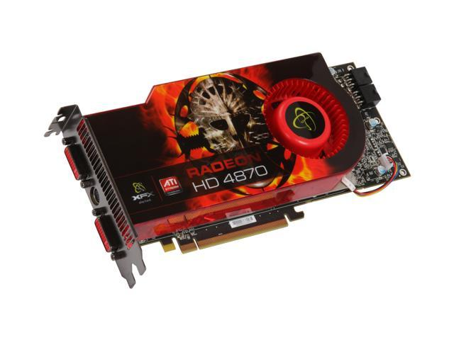 XFX Radeon HD 4870 DirectX 10.1 HD-487A-ZHFC 1GB 256-Bit GDDR5 PCI Express 2.0 x16 HDCP Ready CrossFireX Support Video Card