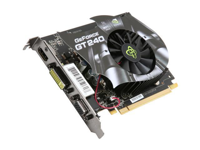 XFX GeForce GT 240 DirectX 10.1 GT240XYHFC 512MB 128-Bit DDR5 PCI Express 2.0 x16 HDCP Ready Video Card