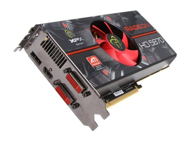 XFX Radeon HD 5870 DirectX 11 HD-587X-ZNFC 1GB 256-Bit DDR5 PCI Express 2.1 x16 HDCP Ready CrossFireX Support Video Card with Eyefinity