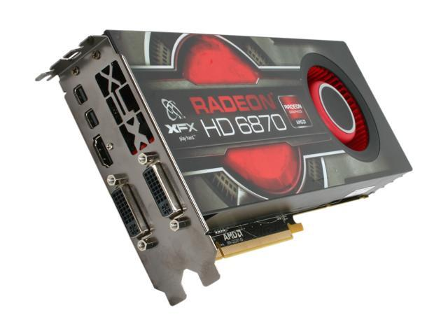 XFX Radeon HD 6870 DirectX 11 HD-687A-ZNFC 1GB 256-Bit DDR5 PCI Express 2.1 x16 HDCP Ready CrossFireX Support Video Card with Eyefinity