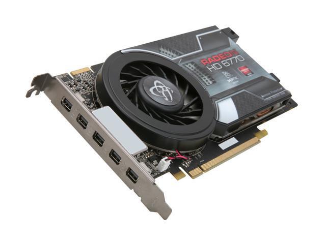 XFX Radeon HD 6770 DirectX 11 HD-677X-Z5F3 1GB 128-Bit GDDR5 PCI Express 2.1 x16 HDCP Ready CrossFireX Support Video Card