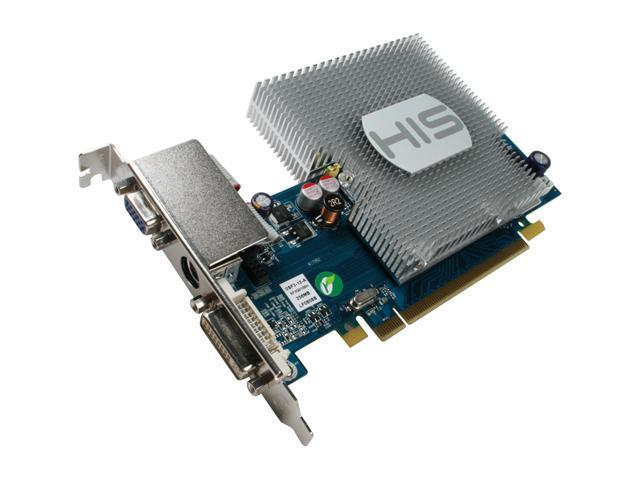 HIS Radeon HD 3450 DirectX 10.1 H345H256NP 256MB 64-Bit GDDR2 PCI Express 2.0 x16 HDCP Ready CrossFireX Support Video Card