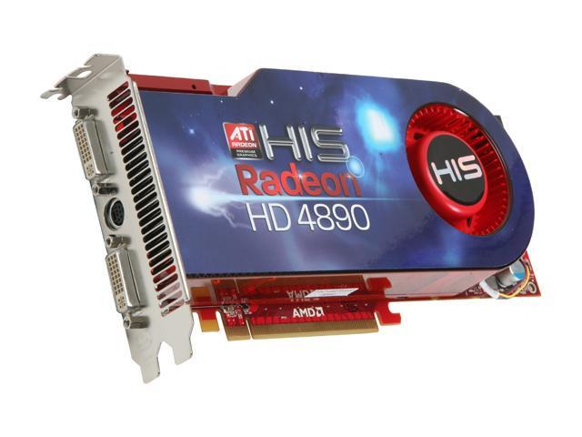 HIS Radeon HD 4890 DirectX 10.1 H489F1GP 1GB 256-Bit GDDR5 PCI Express 2.0 x16 HDCP Ready CrossFireX Support Video Card