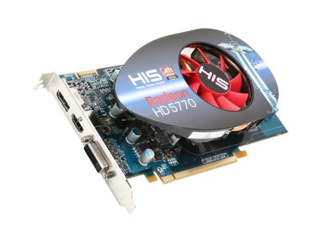 HIS Radeon HD 5770 DirectX 11 H577FM1GD 1GB 128-Bit GDDR5 PCI Express 2.0 x16 HDCP Ready CrossFireX Support Video Card