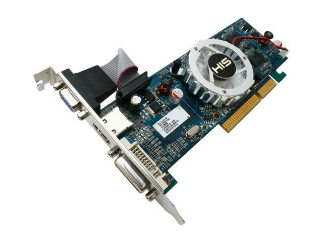 HIS HD 4000 Radeon HD 4350 DirectX 10.1 H435F512HA 512MB 64-Bit DDR3 AGP 4X/8X HDCP Ready Low Profile Ready Video Card