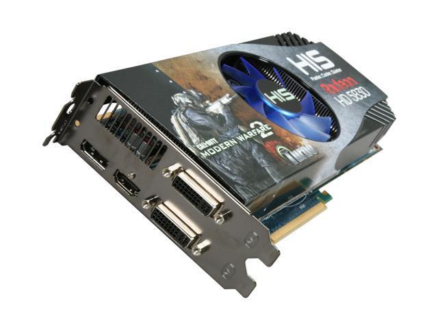 HIS iCooler V Turbo Radeon HD 5830 DirectX 11 H583FNT1GDG Video Card w/ Eyefinity