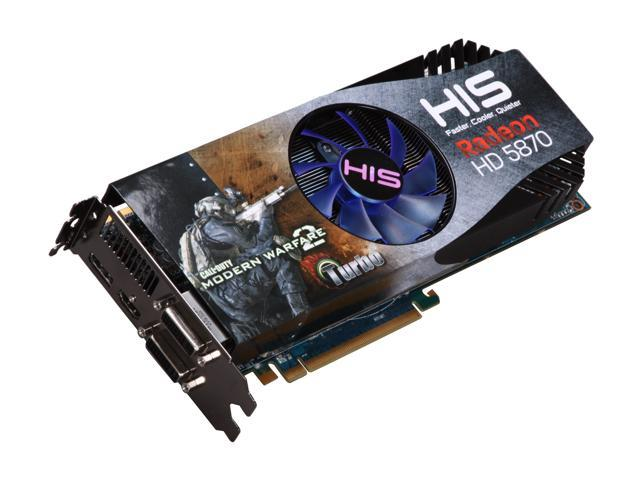 HIS iCooler V Turbo Radeon HD 5870 (Cypress XT) DirectX 11 H587FNT1GDG Video Card DirectX 11/ Eyefinity w/ Call of Duty Modern ...