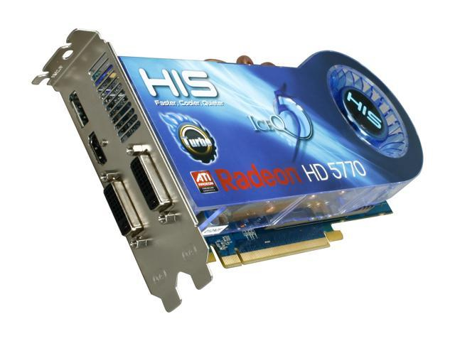 HIS IceQ 5 Turbo Radeon HD 5770 DirectX 11 H577QT1GD Video Card w/ Eyefinity