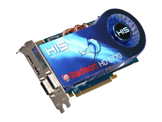 HIS IceQ 5 Radeon HD 5770 DirectX 11 H577Q1GD 1GB 128-Bit GDDR5 PCI Express 2.1 x16 HDCP Ready CrossFireX Support Video Card w/ Eyefinity
