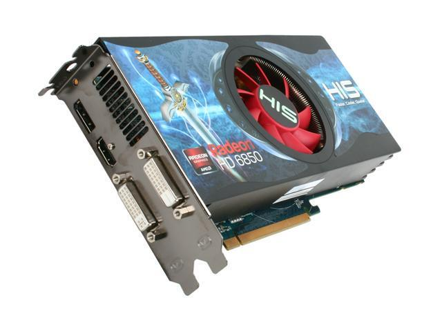 HIS Radeon HD 6850 DirectX 11 H685F1GD 1GB 256-Bit GDDR5 PCI Express 2.1 x16 HDCP Ready CrossFireX Support Video Card with Eyefinity