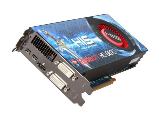 HIS Radeon HD 6870 DirectX 11 H687F1G2M 1GB 256-Bit GDDR5 PCI Express 2.1 x16 HDCP Ready CrossFireX Support Video Card with Eyefinity