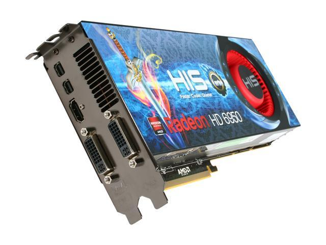 HIS Radeon HD 6950 DirectX 11 H695FT2G2M 2GB 256-Bit GDDR5 PCI Express 2.1 x16 HDCP Ready CrossFireX Support Video Card with Eyefinity