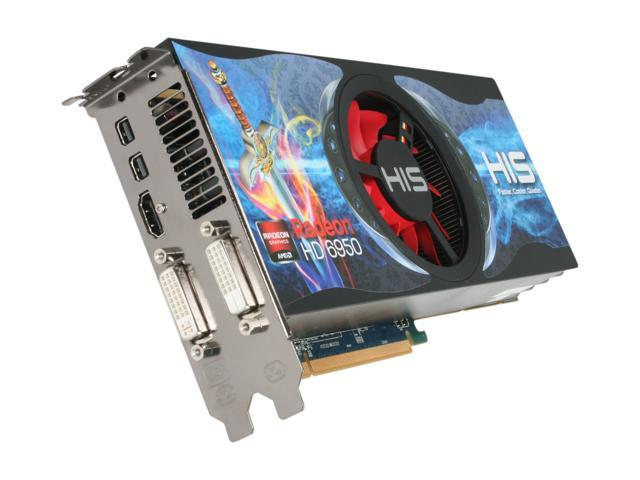 HIS Radeon HD 6950 DirectX 11 H695FN1G2M 1GB 256-Bit GDDR5 PCI Express 2.1 x16 HDCP Ready CrossFireX Support Video Card with Eyefinity