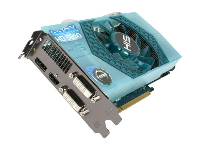 HIS IceQ X Turbo Radeon HD 6850 DirectX 11 H685QNT1GD 1GB 256-Bit GDDR5 PCI Express 2.1 x16 HDCP Ready CrossFireX Support Plug-in Card Video Card with Eyefinity