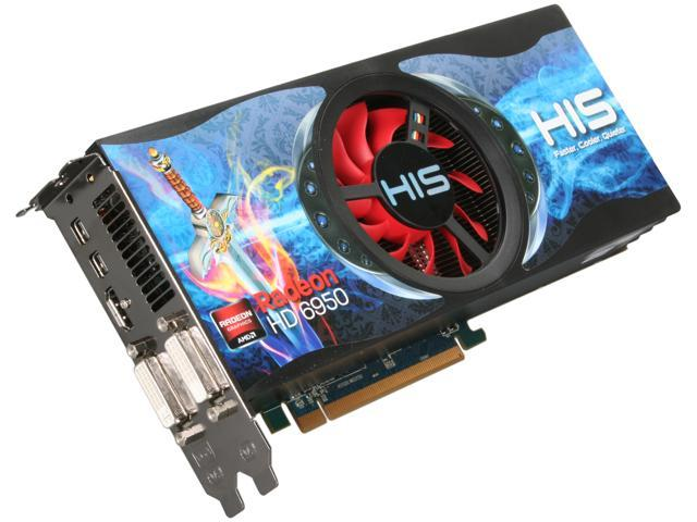 HIS Radeon HD 6950 DirectX 11 H695FN2G2M 2GB 256-Bit GDDR5 PCI Express 2.1 x16 HDCP Ready CrossFireX Support Video Card with Eyefinity
