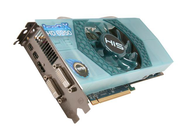 HIS IceQ X Turbo Radeon HD 6950 DirectX 11 H695QNT2G2M Video Card with Eyefinity