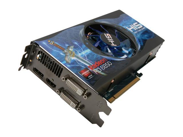 HIS Radeon HD 6850 DirectX 11 H685FN1GD 1GB 256-Bit GDDR5 PCI Express 2.1 x16 HDCP Ready CrossFireX Support Video Card with Eyefinity