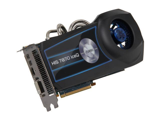 HIS IceQ Radeon HD 7870 GHz Edition DirectX 11 H787Q2G2M 2GB 256-Bit GDDR5 PCI Express 3.0 x16 HDCP Ready CrossFireX Support Plug-in Card Video Card