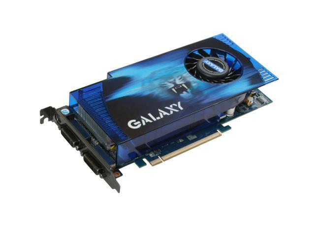 Galaxy 96GFF6HUUEXV GeForce 9600 GT OC 512MB 256-bit GDDR3 PCI Express 2.0 x16 HDCP Ready SLI Supported Video Card