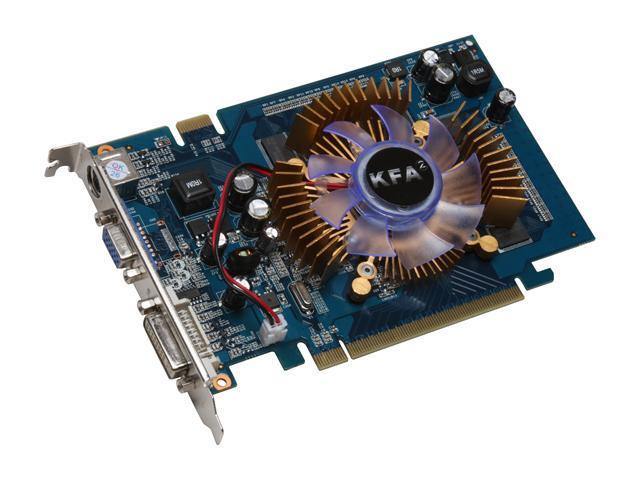Galaxy GeForce 8600 GT DirectX 10 86GGE8HDFEXX 1GB 128-Bit GDDR2 PCI Express x16 HDCP Ready SLI Support Video Card