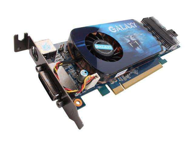 Galaxy GeForce 9600 GT DirectX 10 96GFF6VIFCXU 512MB 256-Bit GDDR3 PCI Express 2.0 x16 Low Profile Ready Video Card