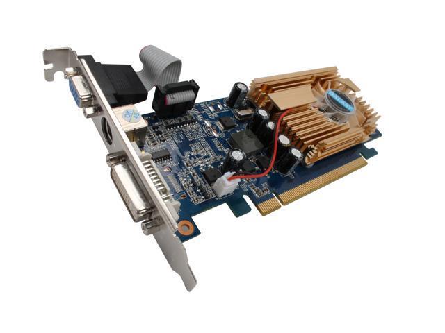 Galaxy GeForce 8400 GS DirectX 10 84GFE6HDFEXN 512MB 64-Bit GDDR2 PCI Express x16 Low Profile Ready Video Card