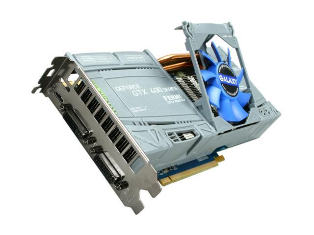 Galaxy GeForce GTX 465 (Fermi) DirectX 11 60XGH3HS3CUD Video Card