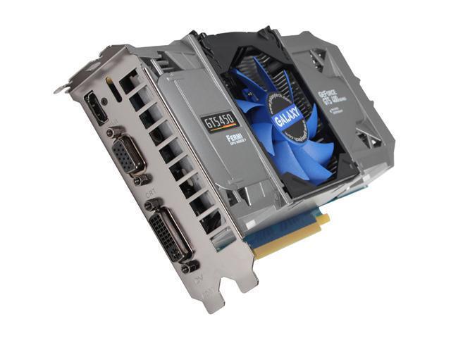 Galaxy 50SGH8HX3QMZ GeForce GTS 450 (Fermi) GC Version 1GB 128-bit DDR5 PCI Express 2.0 x16 HDCP Ready SLI Support Video Card