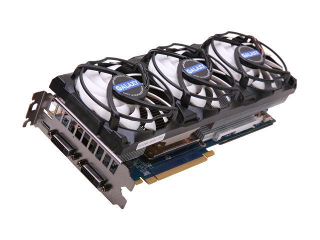 Galaxy GeForce GTX 580 (Fermi) DirectX 11 58NLH5HS3PXZ 1536MB 384-Bit DDR5 PCI Express 2.0 x16 HDCP Ready SLI Support Video Card