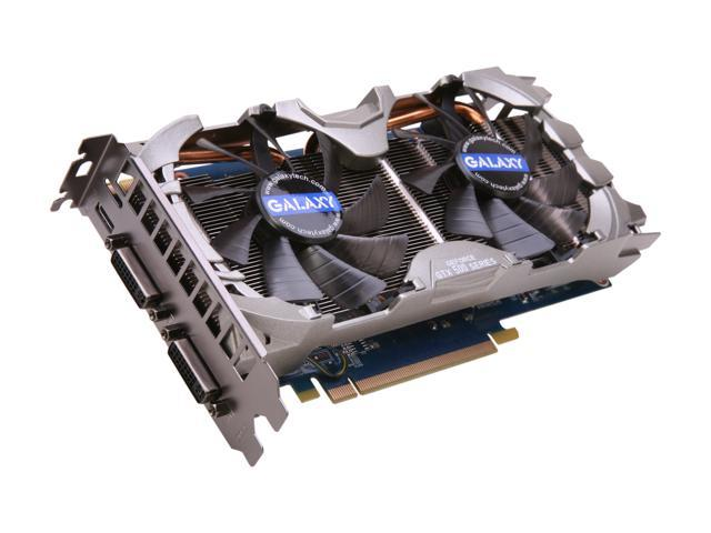 Galaxy 56NGH6HS4IXZ GeForce GTX 560 Ti (Fermi) GC 1GB 256-bit DDR5 PCI Express 2.0 x16 HDCP Ready SLI Support Video Card