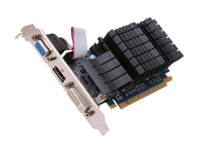 Galaxy 52GGS4HX9DTX GeForce GT 520 (Fermi) Silent Edition 1GB 64-bit DDR3 PCI Express 2.0 x16 HDCP Ready  Video Card
