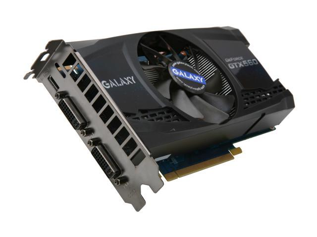 Galaxy GeForce GTX 560 (Fermi) DirectX 11 56NGH6HS3KXZ 1GB 256-Bit GDDR5 PCI Express 2.0 x16 HDCP Ready SLI Support Video Card