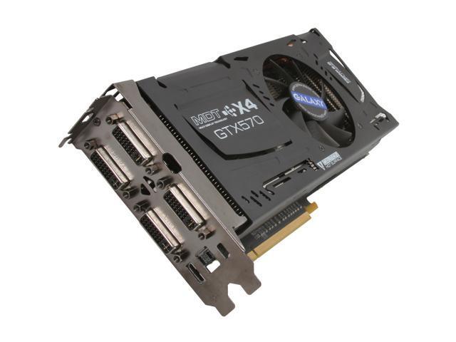Galaxy 57NKH3DH5PXK MDT X4 GeForce GTX 570 (Fermi) 1280MB 320-bit GDDR5 PCI Express 2.0 x16 HDCP Ready SLI Support Multi-Display Video Card