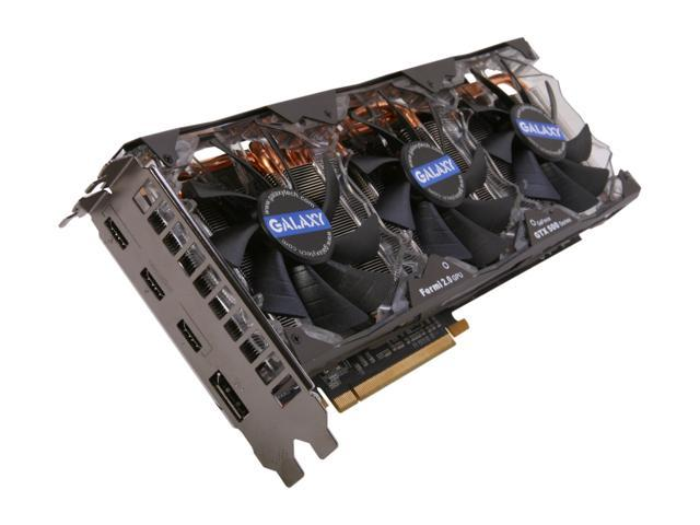 Galaxy 58NLH5DI5TXX MDT X4 GeForce GTX 580 (Fermi) 1536MB 384-bit GDDR5 PCI Express 2.0 x16 HDCP Ready SLI Support Multi-Display Video Card
