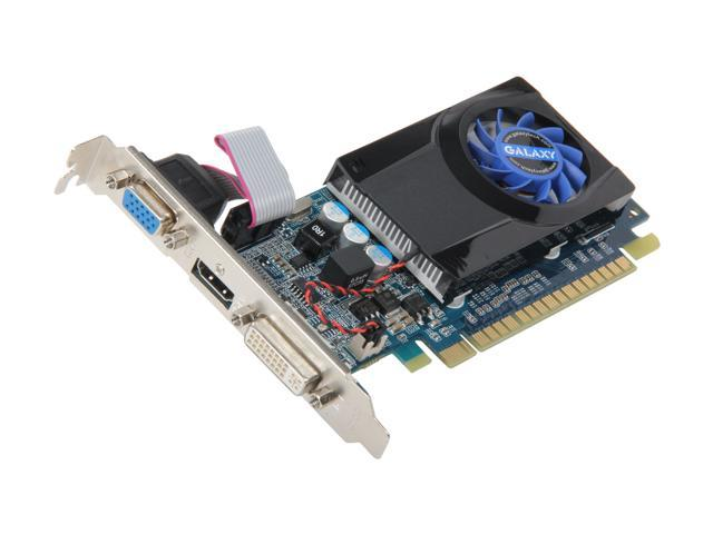 Galaxy GeForce 210 DirectX 10.1 21GGE8HX3BMW 1GB DDR2 PCI Express 2.0 x16 HDCP Ready Video Card