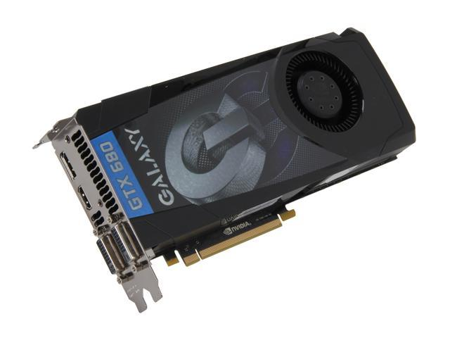 Galaxy GeForce GTX 680 DirectX 11 68NPH6DV5ZGX 2GB 256-Bit GDDR5 PCI Express 3.0 x16 HDCP Ready SLI Support Video Card
