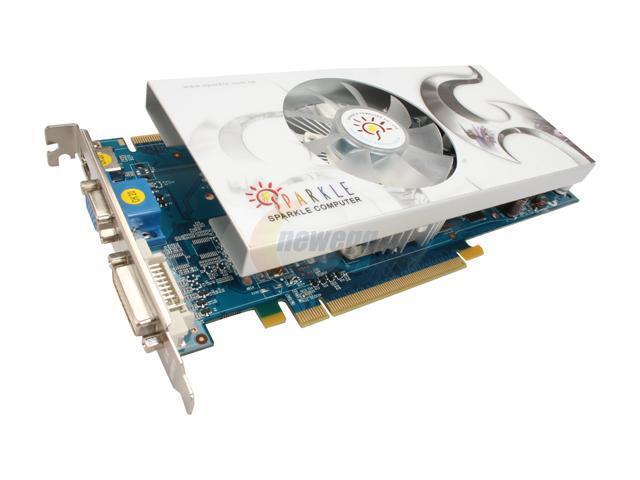 SPARKLE GeForce GTS 250 DirectX 10 SXS250512D3-NM 512MB 256-Bit GDDR3 PCI Express 2.0 x16 HDCP Ready SLI Support Video Card