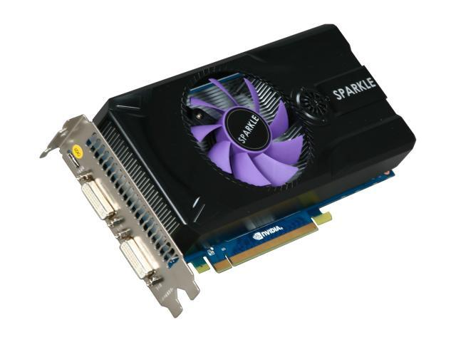 SPARKLE GeForce GTX 460 (Fermi) DirectX 11 SXX460768D5UNM 768MB 192-Bit GDDR5 PCI Express 2.0 x16 HDCP Ready SLI Support Video Card