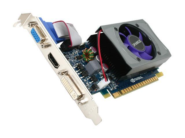 SPARKLE GeForce GT 430 (Fermi) DirectX 11 SXT430512S3LNM 512MB 64-Bit DDR3 PCI Express 2.0 x16 HDCP Ready Low Profile Video Card