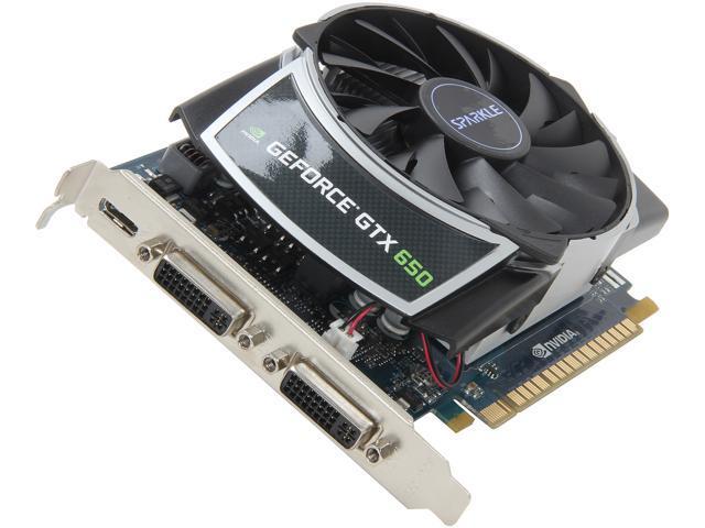 SPARKLE GeForce GTX 650 DirectX 10.1 700026 (SX650C1024KDDA) 1GB 128-Bit GDDR5 PCI Express 3.0 OC Dragon Cyclone Video Card