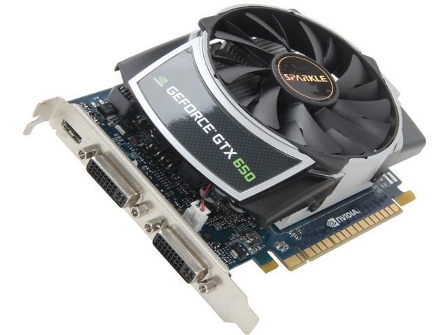 SPARKLE GeForce GTX 650 DirectX 11 700024 (SX650S1024KDDA) 1GB 128-Bit GDDR5 PCI Express 3.0 OC ATX Video Card
