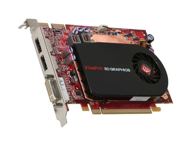 AMD FirePro V3750 100-505559 256MB 128-bit GDDR3 PCI Express 2.0 x16 Workstation Graphics Accelerator - OEM