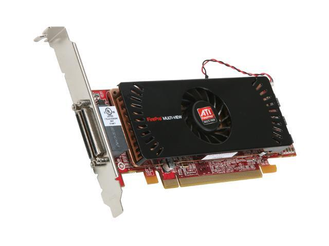 AMD FirePro 2450 100-505840 512MB GDDR3 PCI Express 2.0 x16 & x1 Lane Low Profile Multi-View Workstation Graphics Accelerator