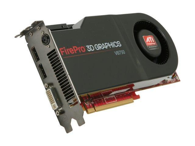AMD FirePro V8750 100-505556 2GB GDDR5 PCI Express 2.0 x16 CrossFire Supported Workstation Video Card
