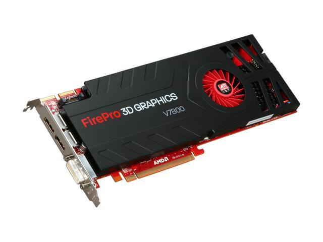 AMD FirePro V7800 100-505604 2GB 256-bit GDDR5 PCI Express 2.0 x16 CrossFire Supported Workstation Video Card