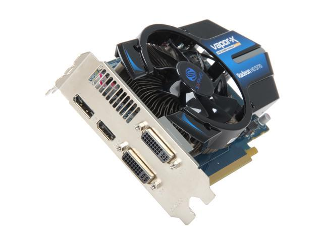 SAPPHIRE Vapor-X Radeon HD 5770 DirectX 11 11163-05 1GB 128-Bit GDDR5 PCI Express 2.0 x16 CrossFireX Support Video Card